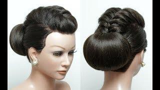 Elegant Bun Hairstyle. Hair Tutorial. Easy Updo