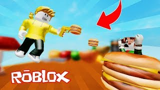 HAMBURGUESA BATTLE!! BURGER SUPER PELEA ROBLOX 💙💚💛 DRINK MILO VITA AND ADRI 😍 AMIWITOS