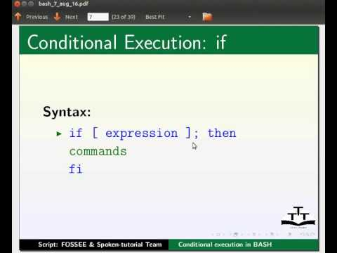 Conditional execution - English