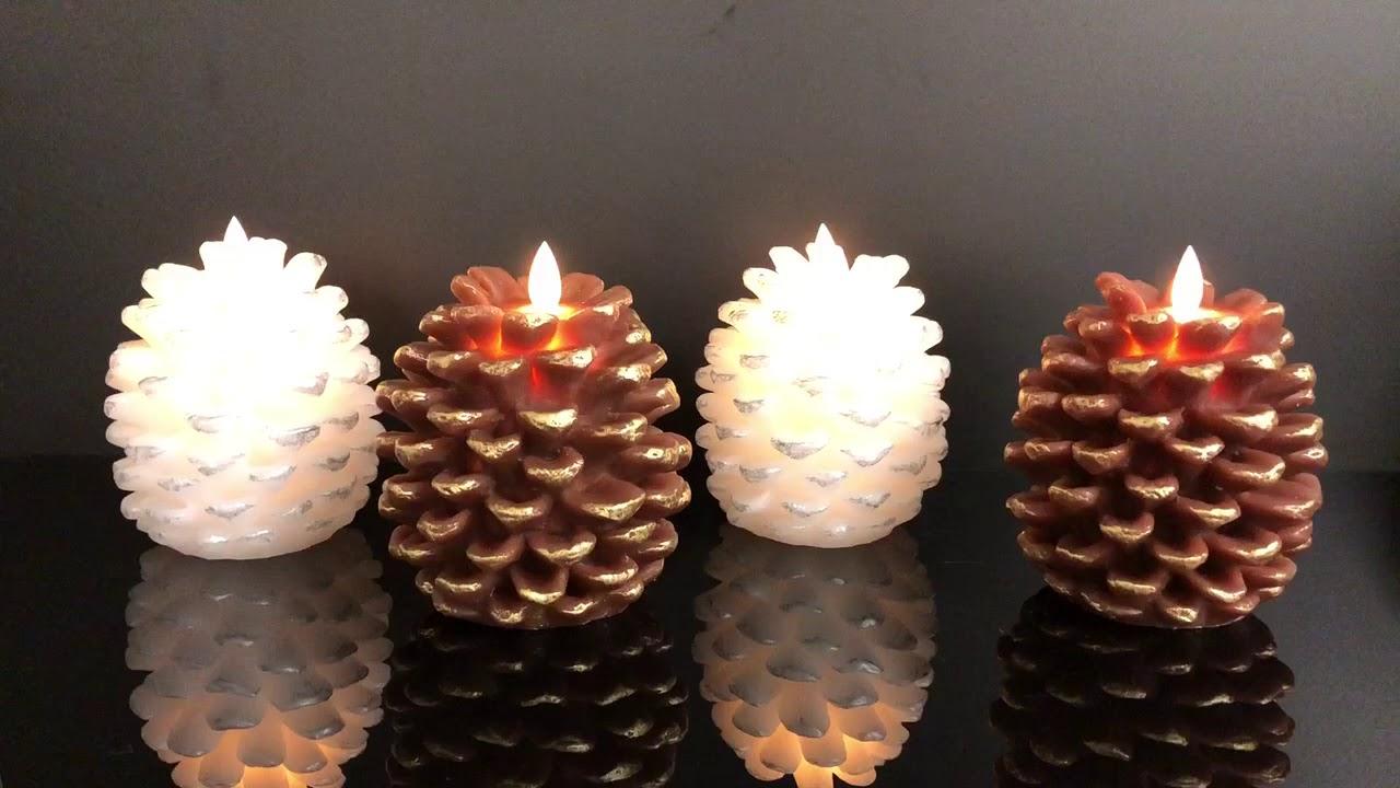 kunstige stearinlys med flamme