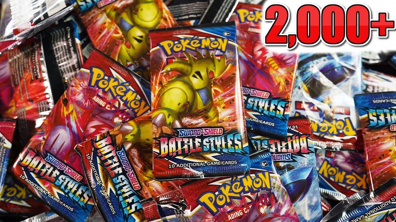 Opening over 2,000 Pokemon Battle Styles Booster Packs (past livestream)