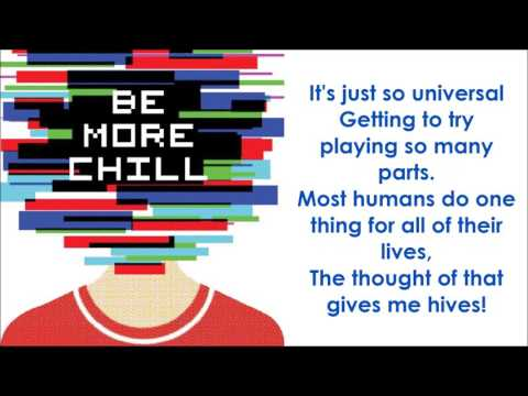 I Love Play Rehearsal - BE MORE CHILL (LYRICS)