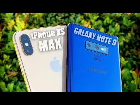 iPhone XS Max vs Galaxy Note 9 Camera Test Comparison!