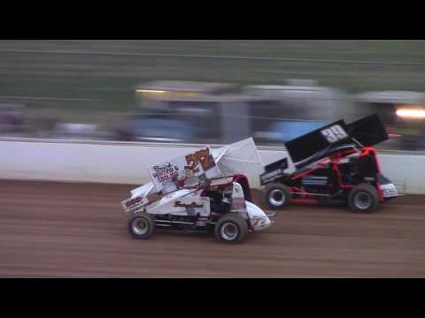Trail-Way Speedway 358 Sprint Car Highlights 6-16-17