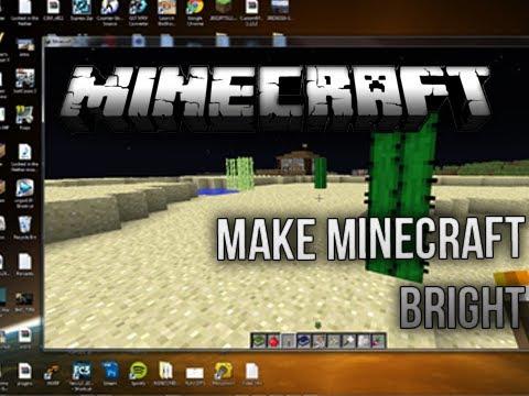 minecraft how to change gamma