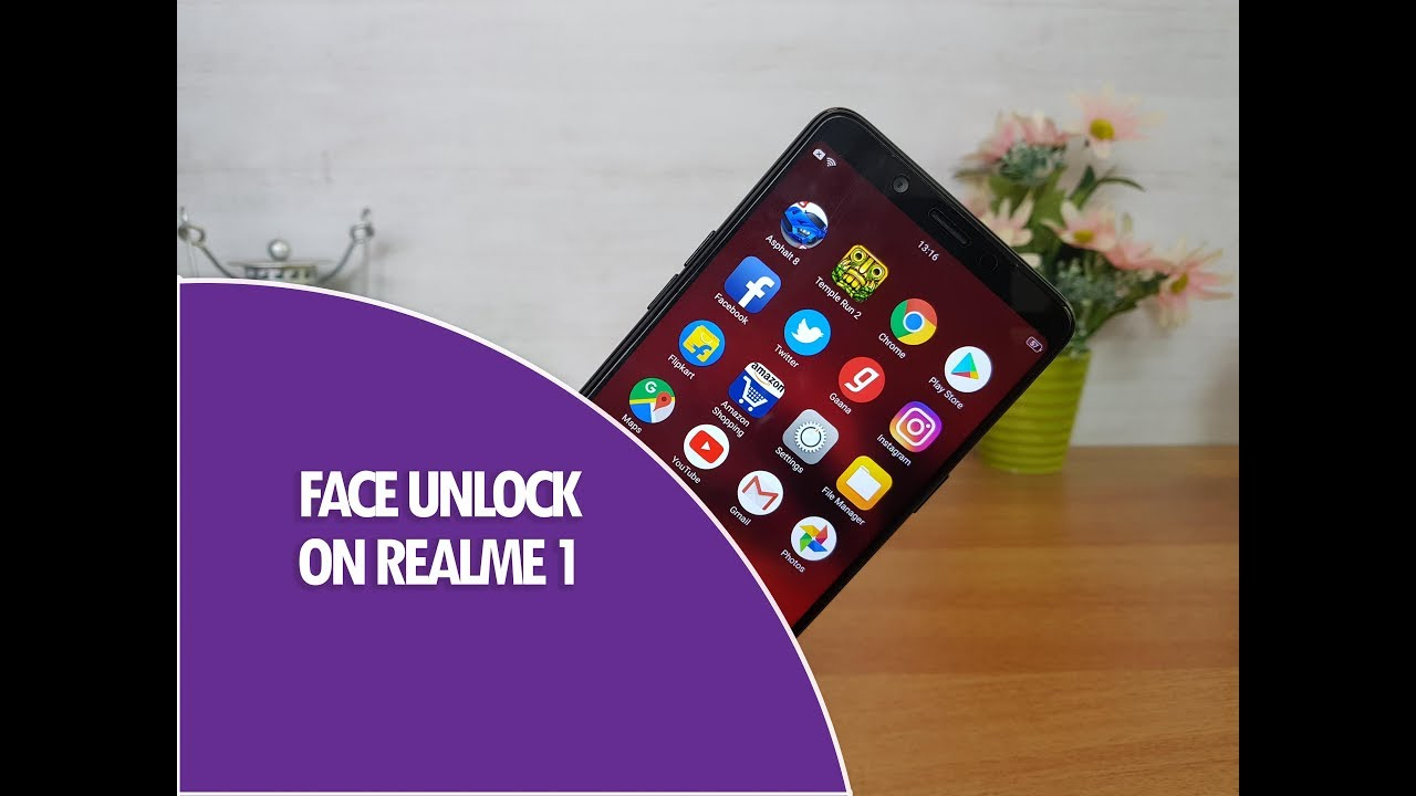 Face Unlock on Realme 1- Speed and How to Set up