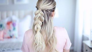 4 in 1 pull thru braid   cute girls hairstyles