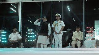 PM Modi at the International Fleet Review 2016 in Visakhapatnam, Andhra Pradesh