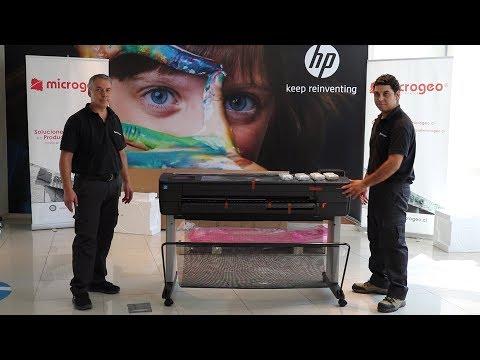 Instalación Plotter HP T830 o T730 Microgeo