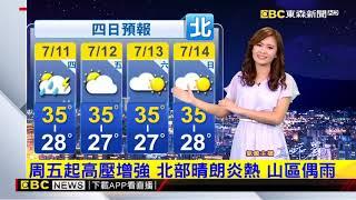 氣象時間 1080710 晚間氣象 東森新聞