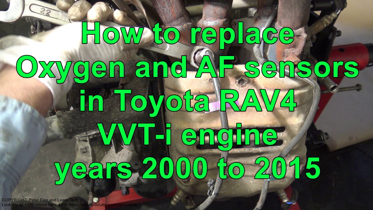 how to replace oxygen and af sensors in toyota rav4 vvt i engine years 2000 to 2015 [ 1280 x 720 Pixel ]