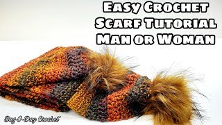 How To Crochet An Easy Scarf - Play The Game - Bagoday Crochet Tutorial #648