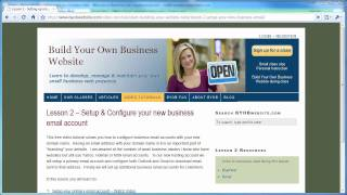 2.1 Setup & configure a new business email account