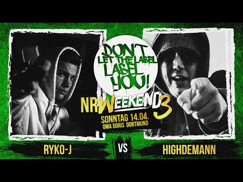 Ryko-J vs Highdemann // DLTLLY RapBattle (NRWeekend3 // Dortmund) // 2019