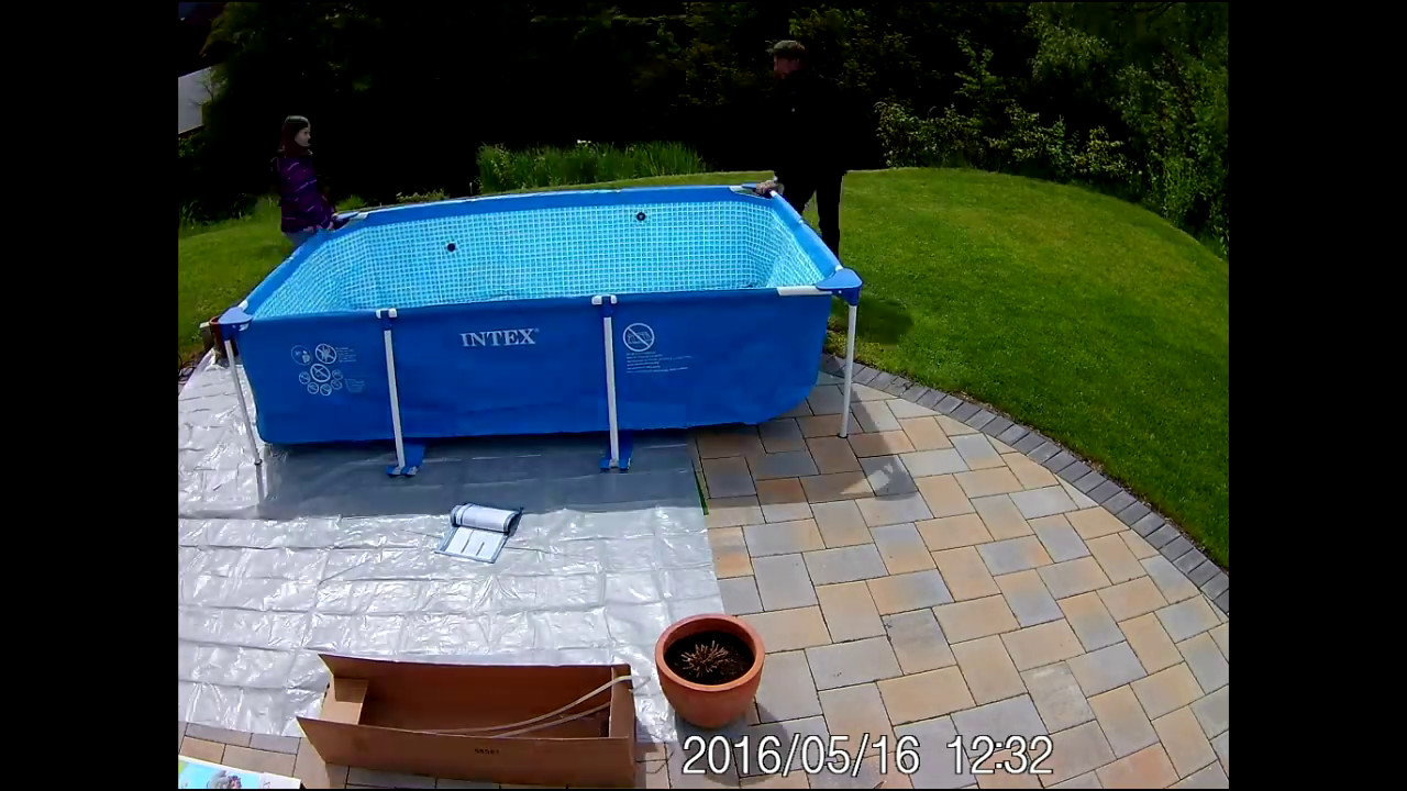 Intex Zwembad 2.60 X 1.60 Poolaufbau Intex Frame Pool