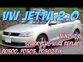 VW Jetta Spark Plug Wires Replacement. Tune up Pt 3. P0300, P0302, P0303 FIX