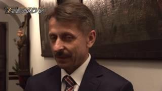 Rozmowa z burmistrzem Biecza podczas rozpoczęcia Kromer Festivalu