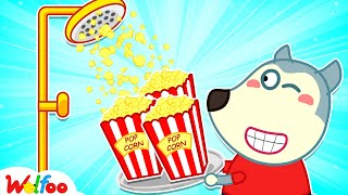 Wolfoo Makes Yummy Popcorn with Dad - Kids Stories About Wolfoo Family | Wolfoo Channel