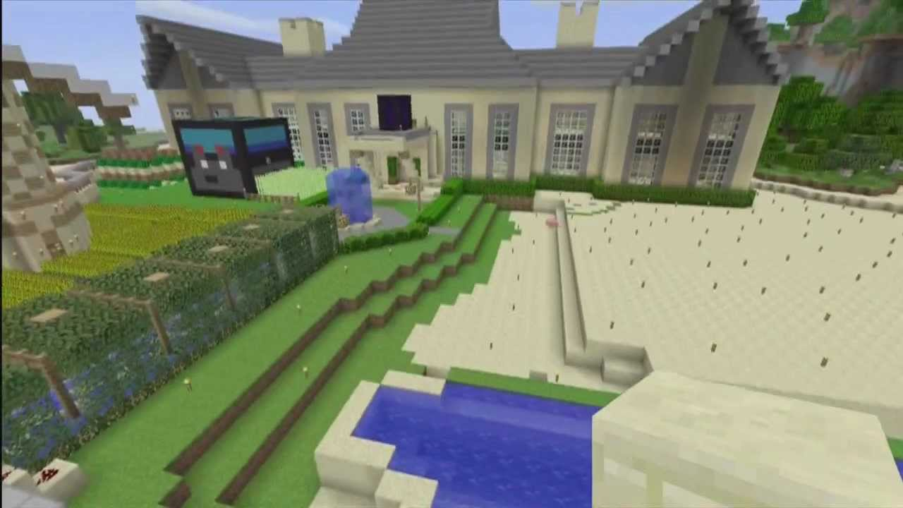 Xbox360 Minecraft Best Mansion/House + Building ideas - YouTube