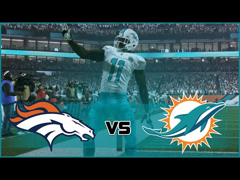 Madden NFL 16 Miami Dolphins Franchise- Year 2 Game 3 vs Denver Broncos