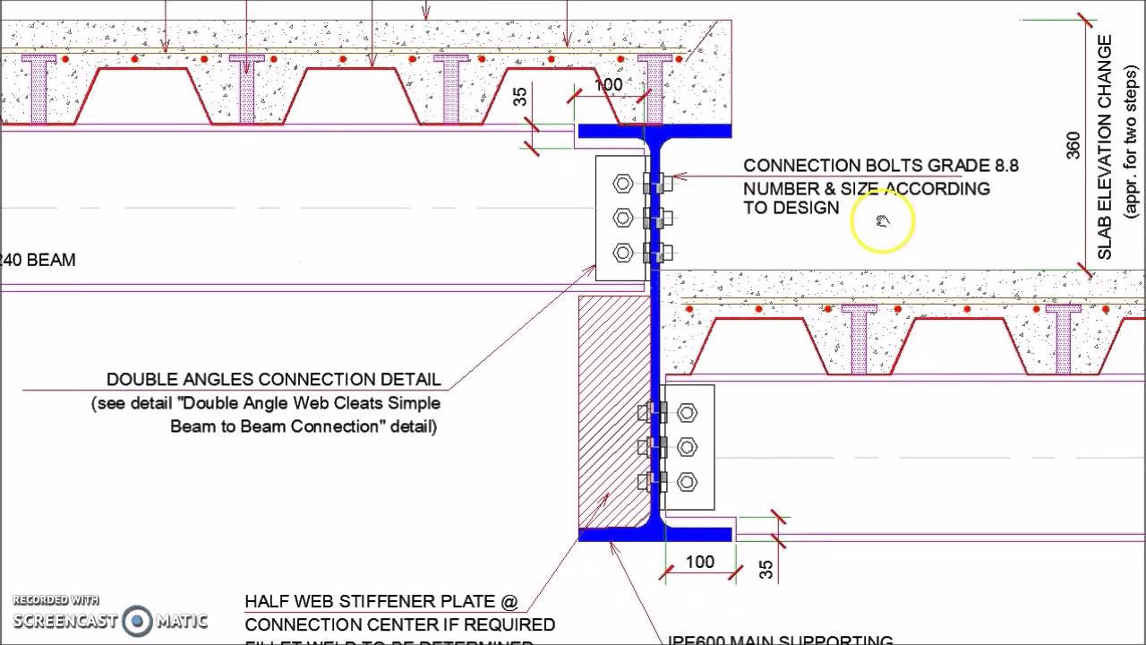 Floor Slab Elevation : Steel floor slab elevation change detail youtube