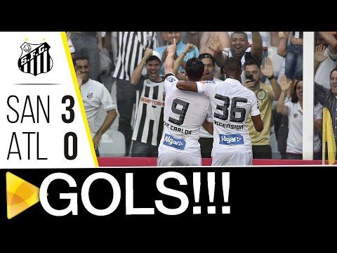 Santos 3 x 0 Atlético-MG | GOLS | Brasileirão (14/08/16)