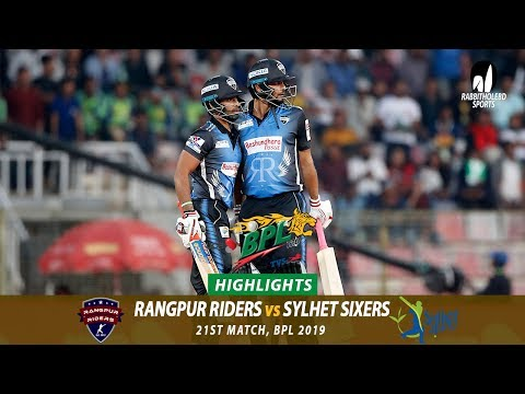 Sylhet Sixers vs Rangpur Riders Highlights  21st Match  Edition 6  BPL 2019