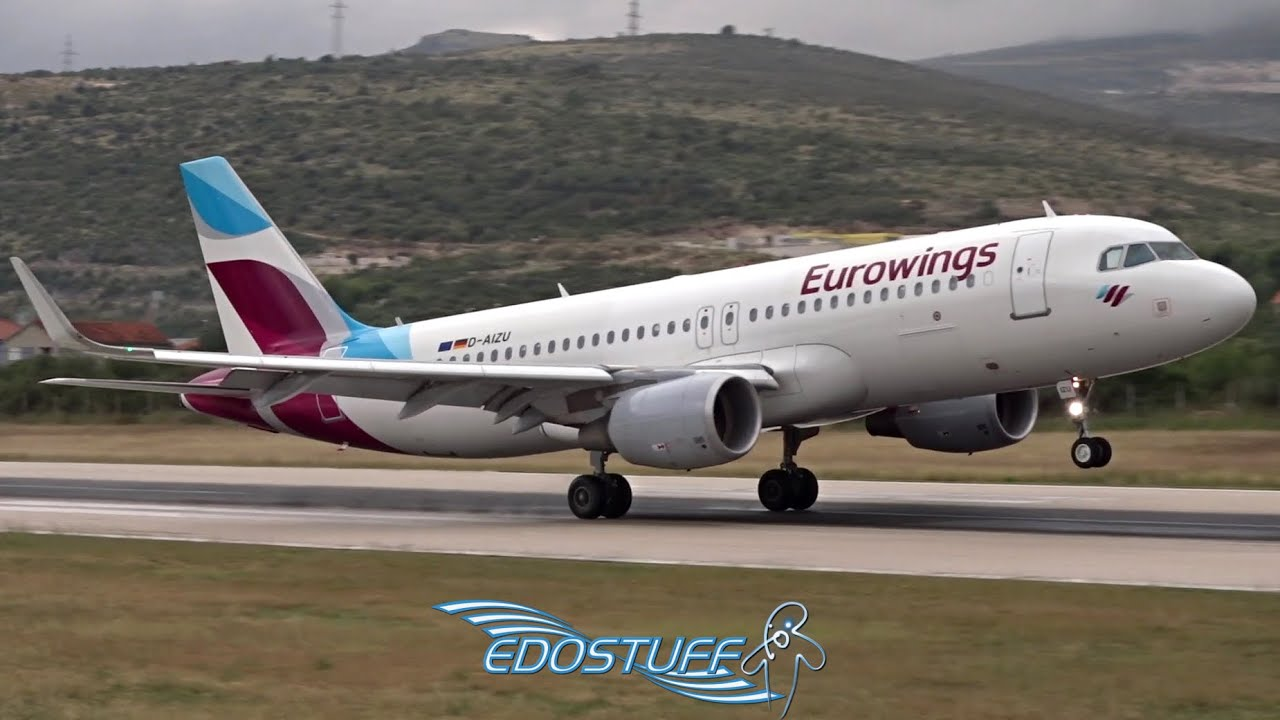Eurowings - Airbus A320-214 D-AIZU - Wet Landing at Split ...