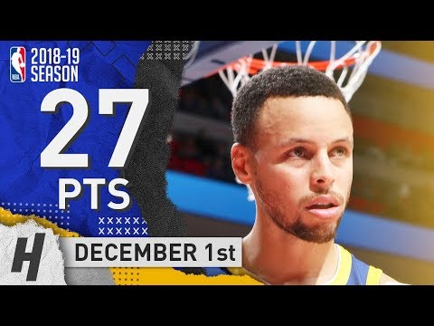 Stephen Curry INJURY RETURN Highlights Warriors vs Pistons 2018.12.01 - 27 Pts, 3 Ast, 5 Rebounds!