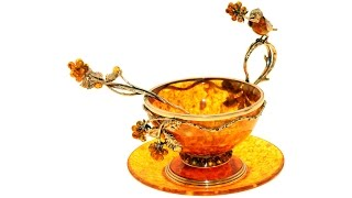 Чашка чайная из янтаря