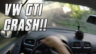 💀 Car Crash - VW Golf GTI on Mountain Road / Touge Canyon Run (60fps, HD)