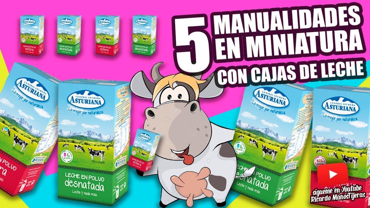 5 Manualidades Con Cajas De Lechemanualidades Reciclajediy