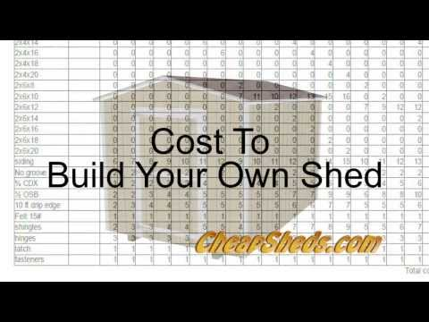 Cost To Build Your Own Shed