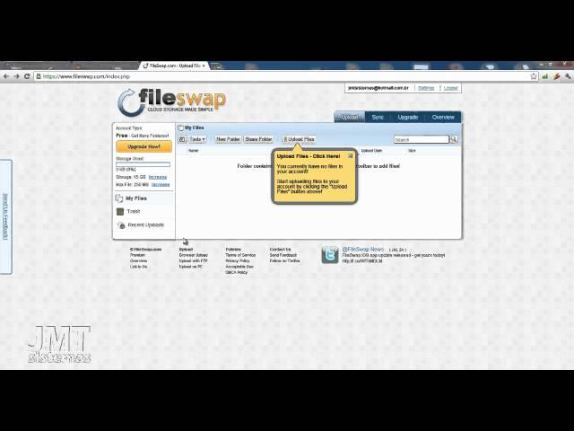 Como fazer upload de arquivos no fileswap.com