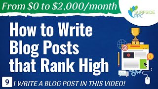 Фото How To Write Blog Posts That Rank High - #9 - From $0 To $2K
