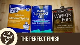Finishing: How to Mix and Apply an Oil/Poly Blend