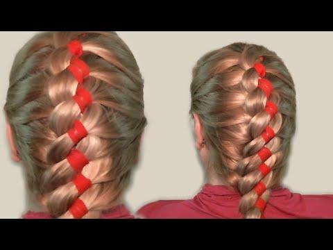 Видео урок: Плетение кос видео уроки 2013: коса с лентой