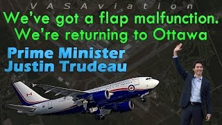 [REAL ATC] Canada's PRIME MINISTER Justin Trudeau FLAPS ISSUE