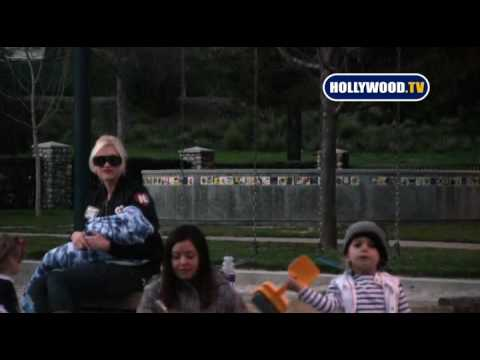 EXCLUSIVE: Gwen Stefani, Zuma And Kingston Play At The Park
