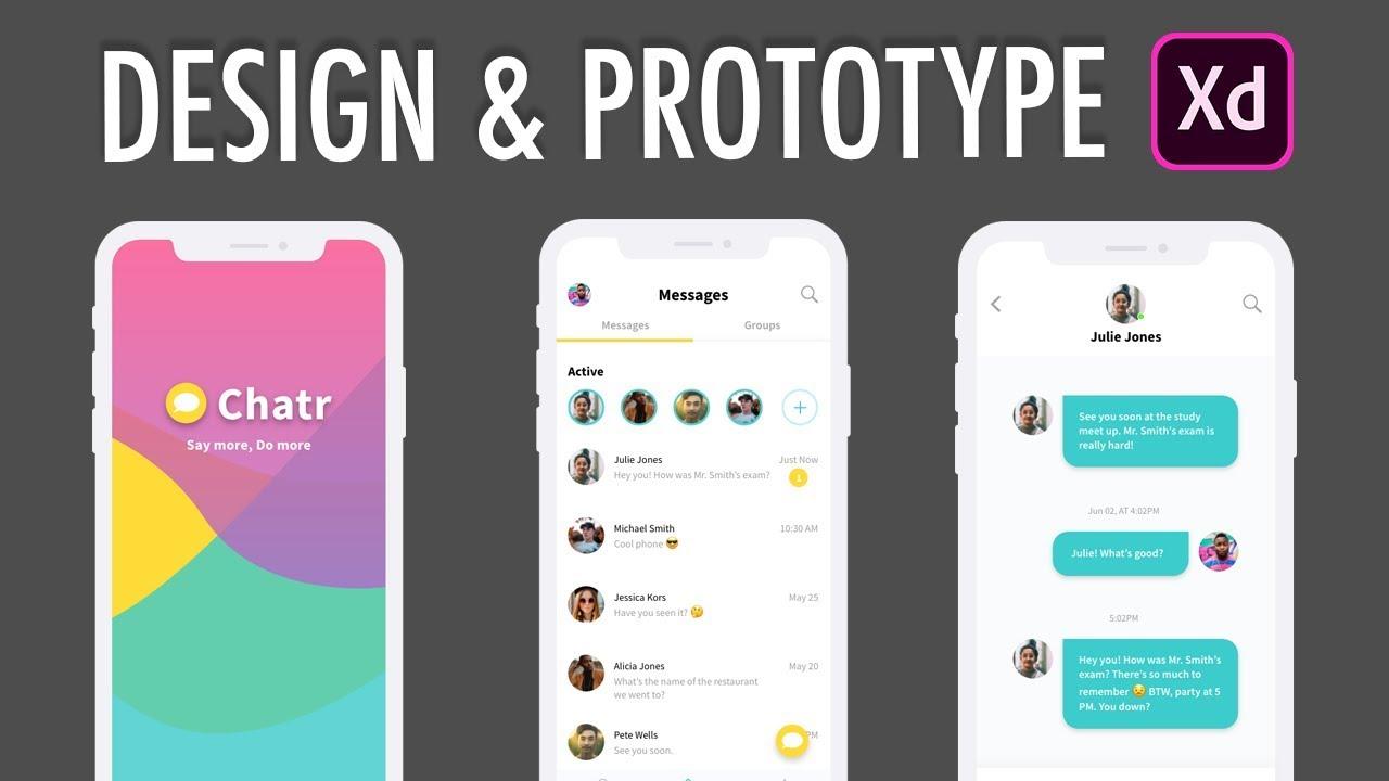 Design & Prototype: Messenger Chat App in Adobe XD (Part 2
