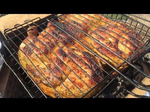 Как приготовить курицу на костре