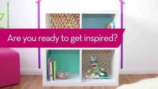 Design With Tape: How To Transform A Bookshelf Into A Kids Playhouse