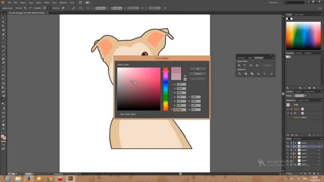 How to draw a dog in adobe illustrator cs6 youtube ccuart Images