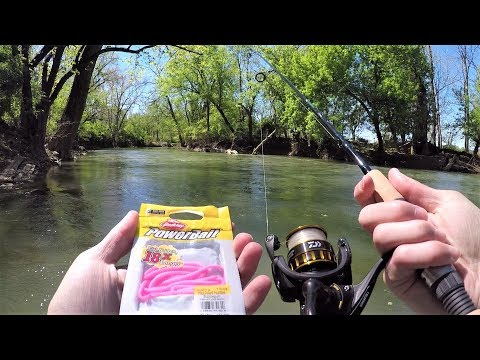 Creek Fishing For TROUT With PINK WORMS