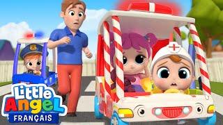 Les Roues de l'Ambulance 🚑 Comptines pour Bébé | Little Angel Français