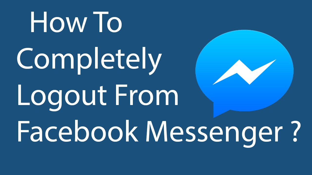 how to completely delete facebook messengers