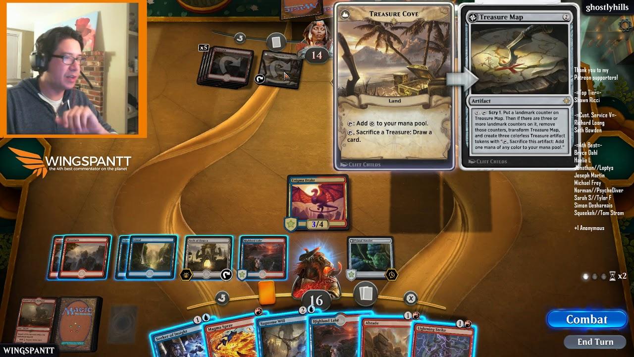 Magic the Gathering Arena: Izzet decks taking on the rank ladder