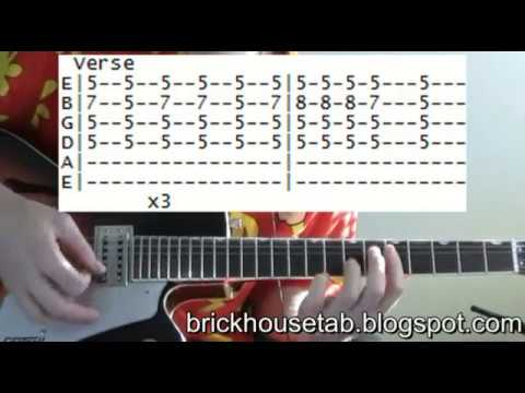 The Commodores Brick House Tab Guitar Lessons Online Youtube