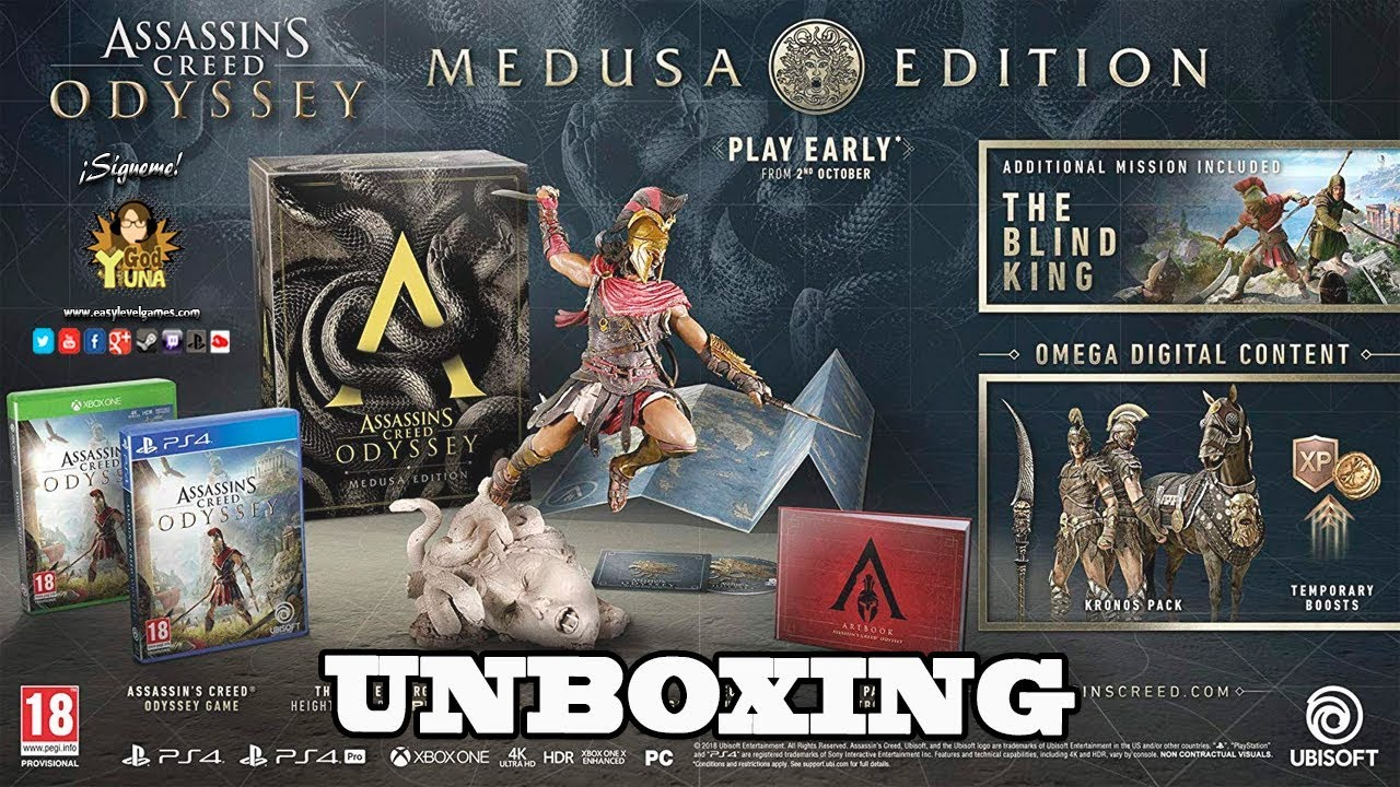 Assassin S Creed Odyssey Medusa Edition Unboxing Ii Espanol