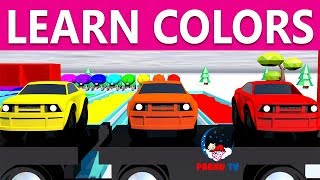 Learn Colors With Cars | Learn Colors | Nursery Rhymes | Colorful Cars | Pabnu TV